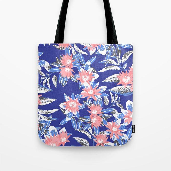 Vintage Flower Pattern Tote Bag