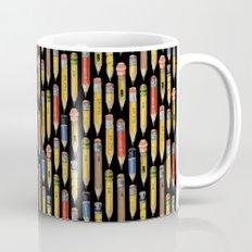 Tiny Pencils Black Mug