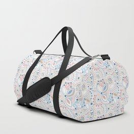 Colorful pattern of pastel light colors with beads Duffle Bag