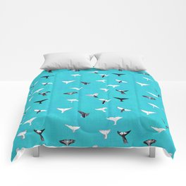 Whale Fluke Pattern Comforters