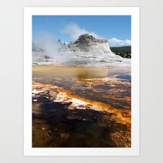 Yellowstone Geyser Art Print