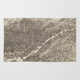 Vintage Pictorial Map of Saginaw Michigan (1885) Rug