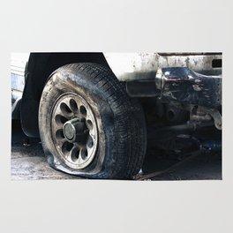 Flat Tire! Rug