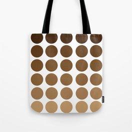 Monochrome Brown Circles Tote Bag