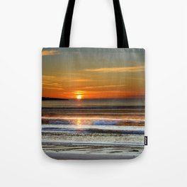 Silver and Gold Sunset Tote Bag
