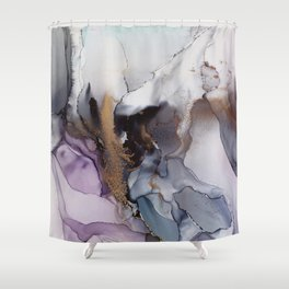 Abstract hand painted alcohol ink texture  Shower Curtain