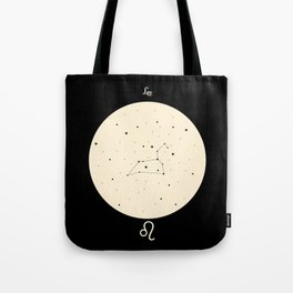 Leo - Black Tote Bag