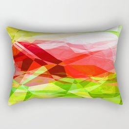 Red Rose with Light 1 Abstract Polygons 1 Rectangular Pillow