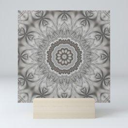 Silvery dream mandala Mini Art Print