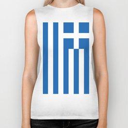 Flag of Greece Biker Tank