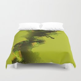 YELLOW COLLAPSE Duvet Cover