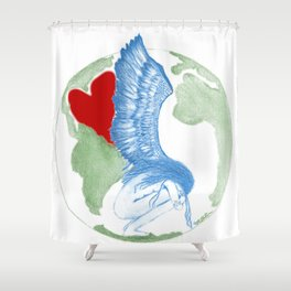Earth Angel- Love Unearthed Shower Curtain