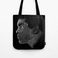ali gulec Tote Bags featuring Mohamed Ali by William