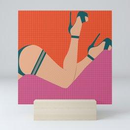 Arch + Point // Femme, Feminine, Valentine, Lingerie, Pin Up, Vintage Mini Art Print