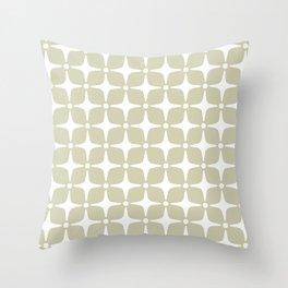 Mid Century Modern Star Pattern 731 Sage Green Throw Pillow