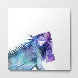Galactic Iguana Metal Print