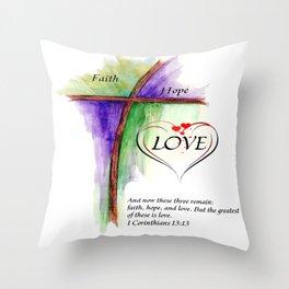 Greatest Love Throw Pillow