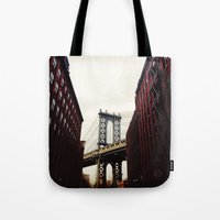 dumbo Tote Bags featuring DUMBO by Britannie Bond