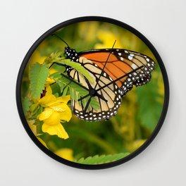Monarch Butterfly 2 Wall Clock