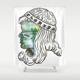 Florida Gril 3 Shower Curtain