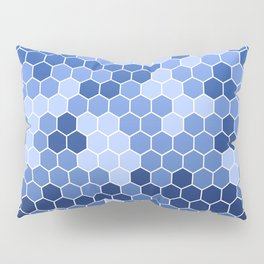 Honeycomb Blue Pattern | Geometric Shapes | Home Decor | Sapphire | For Him | For Her Pillow Sham
