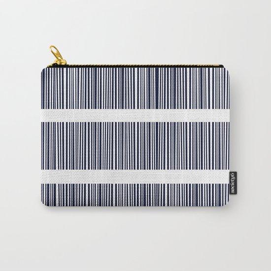 Blue- White- Stripe - Stripes - Marine - Maritime - Navy - Sea - Beach - Summer - Sailor 6 Carry-All Pouch