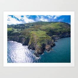 Greystones to Bray Trail Art Print