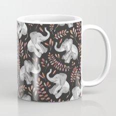 Laughing Baby Elephants - Coral Mug