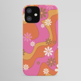 Groovy 60's and 70's Flower Power Pattern iPhone Case
