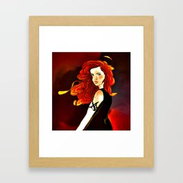 Clary Fray from The Mortal Instruments by Cassandra Clare Framed Art Print