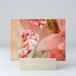 ROSE SPANGLES no5-QF-Butterfly Mini Art Print