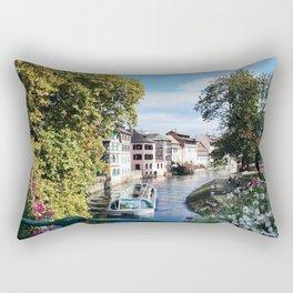 Strasbourg River View Rectangular Pillow
