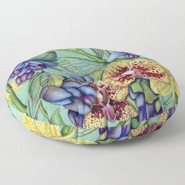 Lost Wing In Bloom Floor Pillow