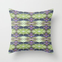 Space Age Sell brite Jeans Throw Pillow