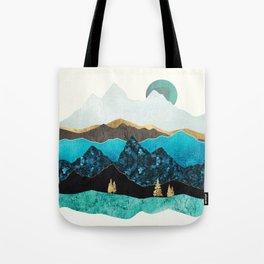 Teal Afternoon Tote Bag