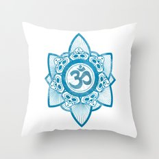 Ohm - Yoga Print Throw Pillow