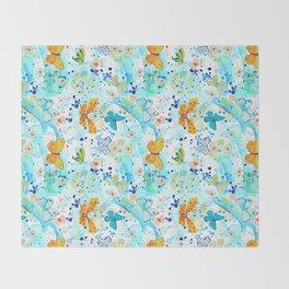 Summer Butterflies Throw Blanket