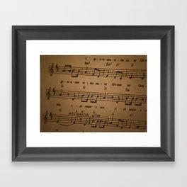 Music Tabs Framed Art Print