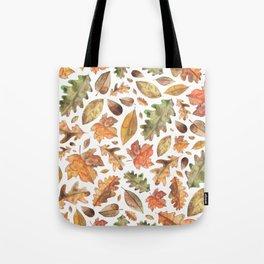 Watercolour Autumn Leaves. Tote Bag