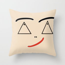 Side Winder Smile Throw Pillow