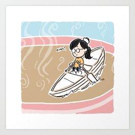 I Rowed a Boat Across a Teacup Art Print