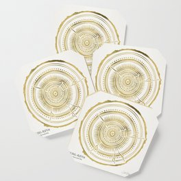 Quaking Aspen – Gold Tree Rings Coaster