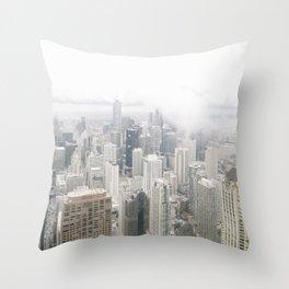 Cloudy Chicago Throw Pillow