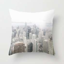 Cloudy Chicago Throw Pillow