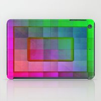 aperture iPad Cases featuring Aperture #1 Fractal Pleat Texture Colorful Design by CAP Artwork & Design