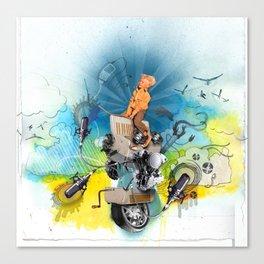 MINGA x Pop Lock it Polka Canvas Print