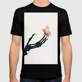 Butterfly on Skeleton Hand T-shirt