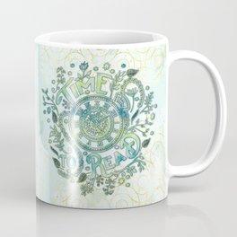 Time To Read - Watercolor Green Coffee Mug
