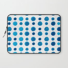 Watercolor blue dots Laptop Sleeve