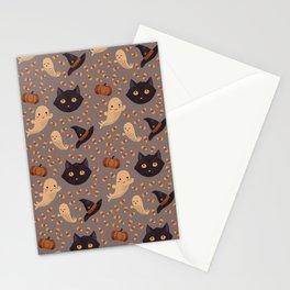Spooky Season Pattern Stationery Cards